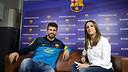 Un instant del Hangout de Piqué. FOTO: ÀLEX CAPARRÓS-FCB.