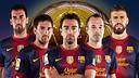 Sergio, Messi, Xavi, Iniesta i Piqué, els cinc candidats del Barça