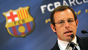 President Sandro Rosell / PHOTO: ARCHIVE-FCB