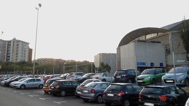 Parking area behind the Palau Blaugrana   PHOTO: FCB