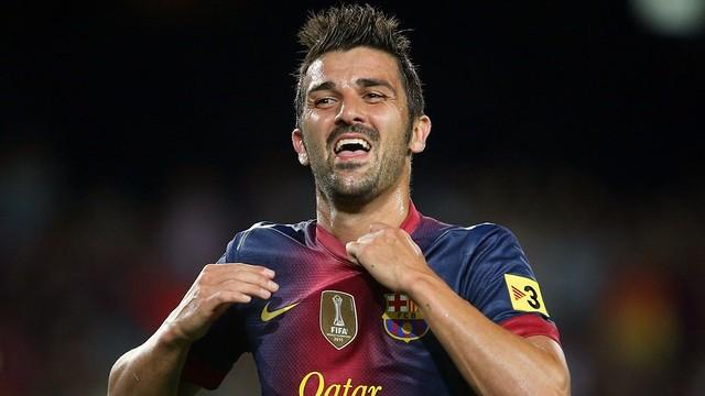 David Villa, celebrant un gol / FOTO: MIGUEL RUIZ - FCB