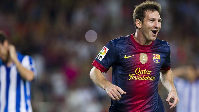 Messi, celebrant un gol aquesta temporada / FOTO: ARXIU FCB