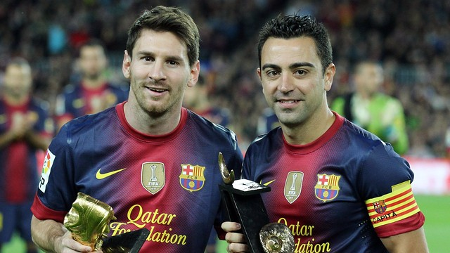 Leo Messi and Xavi Hernández / PHOTO: MIGUEL RUIZ - FCB