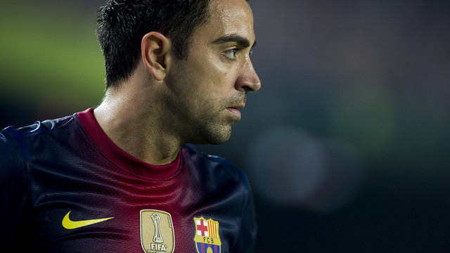Xavi during the Clásico at the Camp Nou / PHOTO: ÁLEX CAPARRÓS - FCB