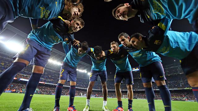 Barça players at Camp Nou / PHOTO: MIGUEL RUIZ - FCB