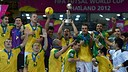 Wilde, Ari and Gabriel, World Cup champions with Brazil / PHOTO: www.fifa.com