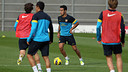 Thiago, en un entrenament recent / FOTO: MIGUEL RUIZ - FCB