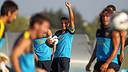 Xavi, en un entrenament d'aquesta temporada. FOTO: MIGUEL RUIZ-FCB.