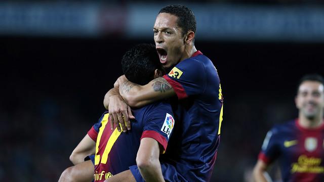 Adriano celebrating a goal FOTO: MIGUEL RUIZ-FCB.