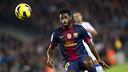 Song, finalista a Jugador Africà de l'Any 2012. FOTO: ÀLEX CAPARRÓS-FCB