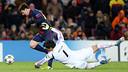 Messi, en el moment de la seva lesió. FOTO: MIGUEL RUIZ-FCB.