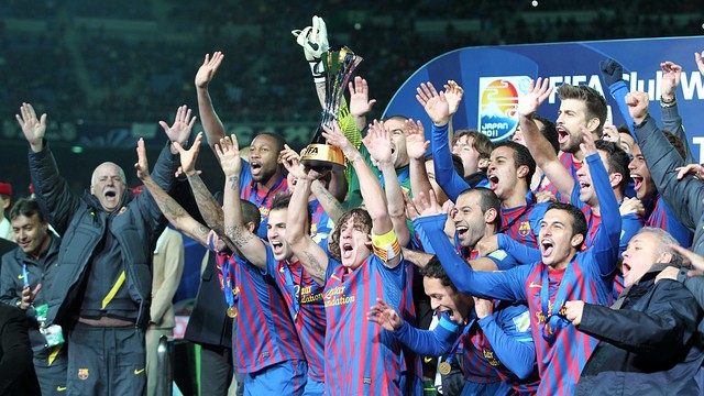 The team with the 2011 CWC trophy / PHOTO: ARCHIVE FCB