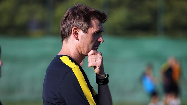 Tito Vilanova, en un entrenamiento / FOTO: ARCHIVO FCB
