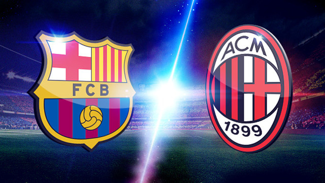 Milan vs Barça PHOTO: ARCHIVE - FCB