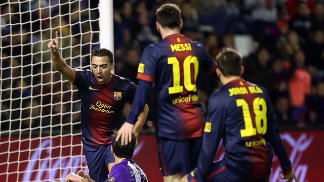 El 0-1 a Valladolid. FOTO: MIGUEL RUIZ-FCB.