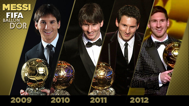Les 4 Pilotes d'Or de Leo Messi