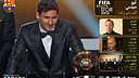 Wallpaper Leo Messi Ballon d'Or 2012 ARA