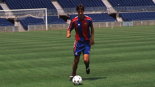 Kodro during his career in FC Barcelona PHOTO: ARXIU FCB.
