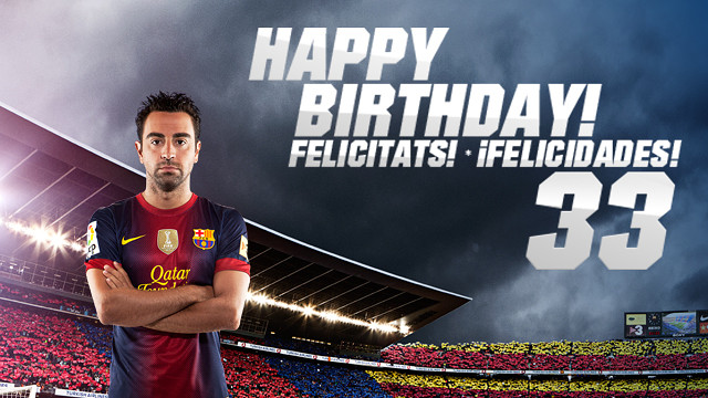 Happy Birthday, Xavi!