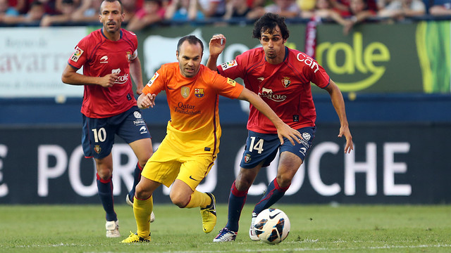 Iniesta in Pamplona / PHOTO: MIGUEL RUIZ - FCB