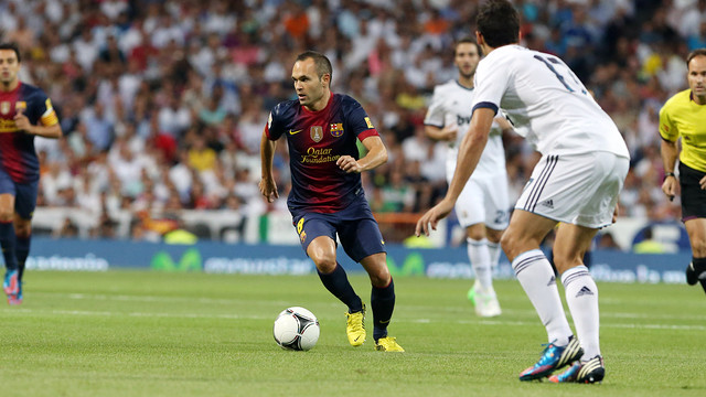 Iniesta in the Madrid - Bara Spanish Super Cup match / PHOTO: MIGUEL RUIZ - FCB