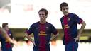 Luis Alberto i Grimaldo tindran l'oportunitat de debutar amb la selecció espanyola sub-21 / FOTO: ARXIU FCB