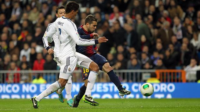 Alba, against Madrid. PHOTO: MIGUEL RUIZ-FCB.