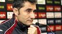 Ernesto Valverde at a press conference