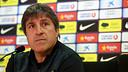 Jordi Roura's press conference / PHOTO: MIGUEL RUIZ - FCB