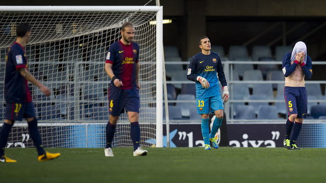 Barça B lost at home to Guadalajara / PHOTO: ÀLEX CAPARRÓS - FCB