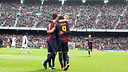 Les joueurs au Camp Nou / PHOTO: MIGUEL RUIZ - FCB