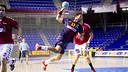Dani Sarmiento, en el partit contra l'Academia Octavio disputat al Palau durant la primera volta / FOTO: ÁLEX CAPARRÓS - FCB