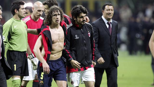 Puyol and Gattuso in 2005/06 / FOTO: MIGUEL RUIZ - FCB