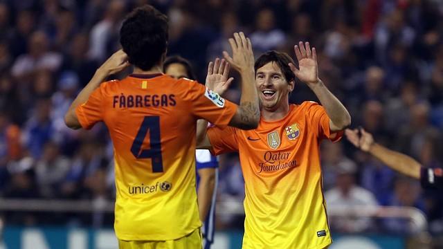 Deportivo - FC Barcelona Messi Cesc / FOTO: MIGUEL RUIZ - FCB