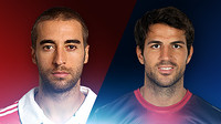 Cesc Fbregas i Mathieu Flamini, cara a cara
