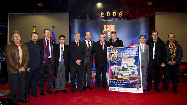 Poster preseentation of the VIII Castilla-La Mancha Barça Supporters Clubs Meeting. Photo: FCB