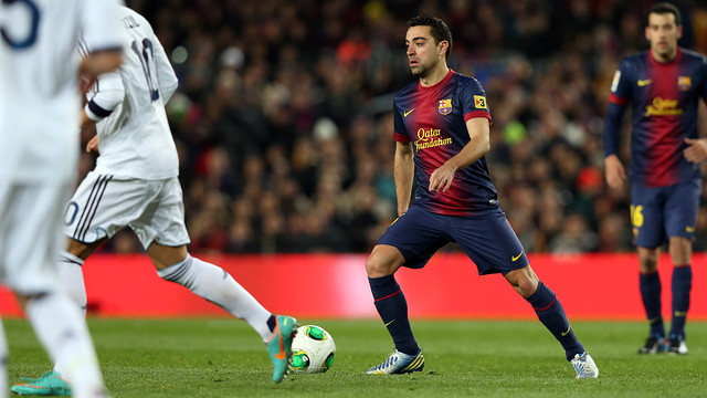 Xavi against Real Madrid. FOTO: MIGUEL RUIZ - FCB