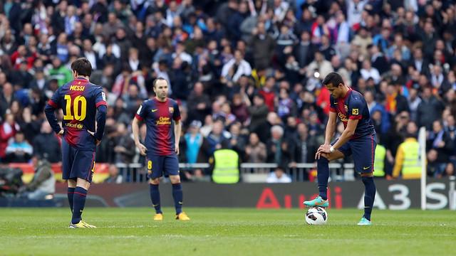 Decepció al Bernabéu. FOTO: MIGUEL RUIZ-FCB.