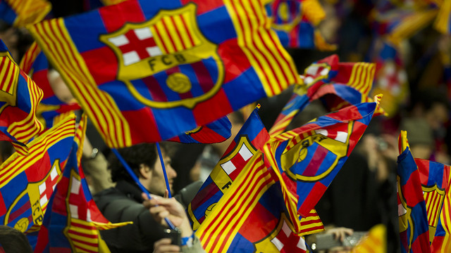 90,000 flags in Camp Nou / PHOTO: ÀLEX CAPARRÓS - FCB