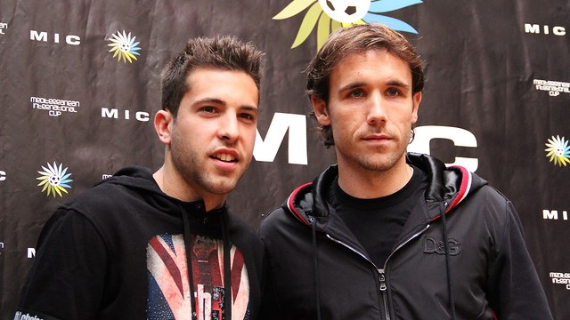 Alba at the MIC Tournament with Joan Verdú. PHOTO: MIC / Adrià Fontanet