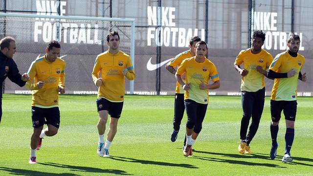 Imagen del entrenamiento de este domingo. FOTO: MIGUEL RUIZ — FCB