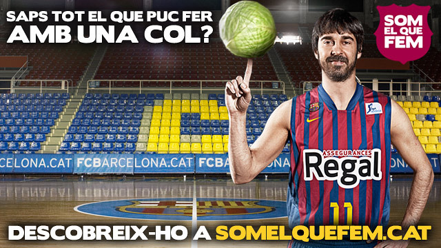Imatge corporativa de la campanya amb Navarro i el text ¿saps el que puc fer amb una taronja?