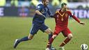 Iniesta in the Paris match / PHOTO: CARMELO RUBIO
