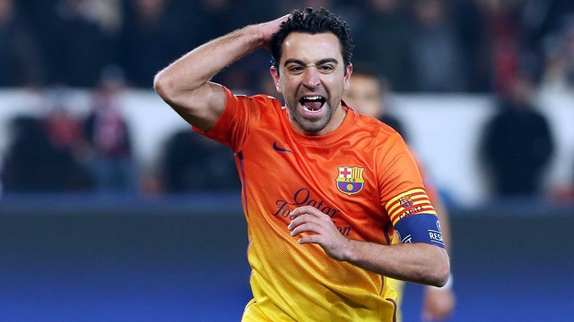 Xavi against PSG / PHOTO: MIGUEL RUIZ - FCB