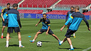 Training at the Camp Nou prior to meeting PSG. PHOTO: MIGUEL RUIZ-FCB.