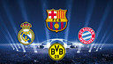 Barça, Real Madrid, Bayern and Dortmund are the four semi finalists
