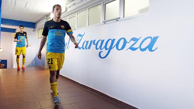 Adriano at La Romareda / PHOTO: MIGUEL RUIZ - FCB