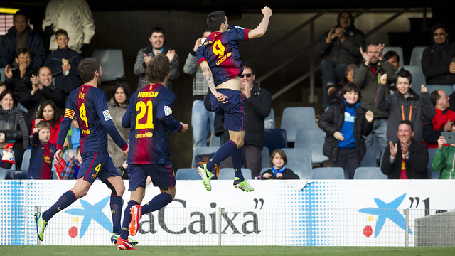 Luis Alberto after a recent goal. PHOTO: ÀLEX CAPARRÓS-FCB.