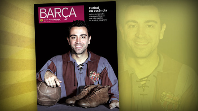 Xavi on the cover of BARÇA Magazine