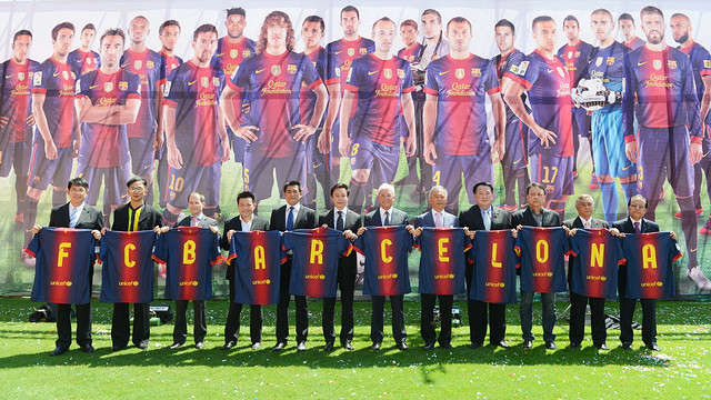 Presentation of the game in Thailand / FOTO: FCB